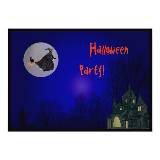 Invitación del fiesta de la bruja de Halloween