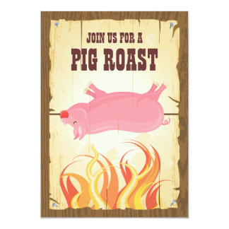 Invitación del fiesta de la carne asada del cerdo