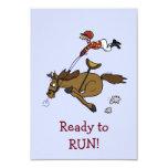 Invitación del fiesta de la carrera de caballos