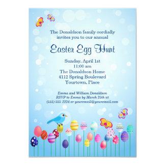 Invitación del fiesta de la caza del huevo de