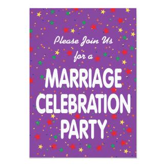 Invitación del fiesta de la celebración de la boda