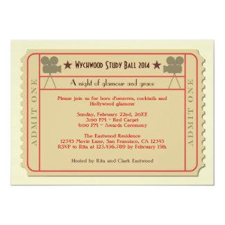 Invitación del fiesta de la ceremonia de entrega