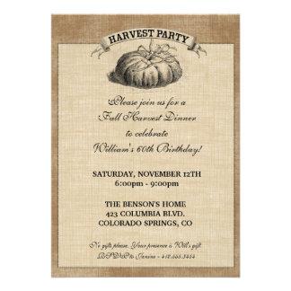 Invitación del fiesta de la cosecha