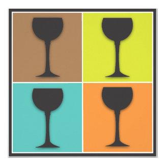 Invitación del fiesta de la degustación de vinos d