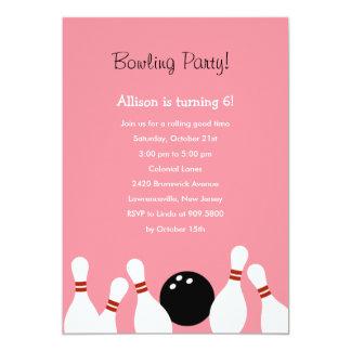 Invitación del fiesta de la diversión de los bolos invitación 12,7 x 17,8 cm