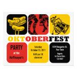 Invitación del fiesta de la diversión de Oktoberfe