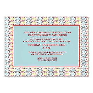 Invitación del fiesta de la elección del voto del invitación 12,7 x 17,8 cm