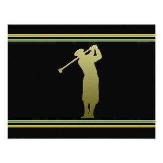 Invitación del fiesta de la excursión del golf