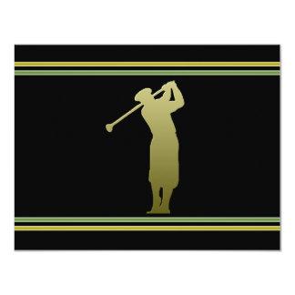 Invitación del fiesta de la excursión del golf invitación 10,8 x 13,9 cm