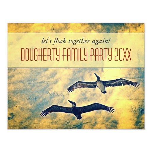 Invitación del fiesta de la familia de los invitación 10,8 x 13,9 cm
