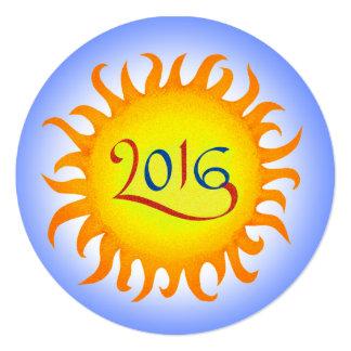 Invitación del fiesta de la Feliz Año Nuevo de la