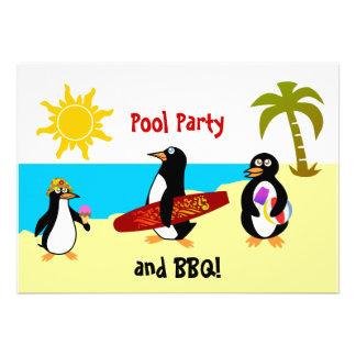 Invitación del fiesta de la fiesta en la piscina d