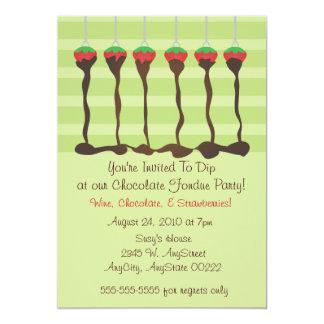 """Invitación del fiesta de la """"fondue"""""""