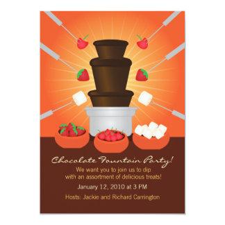 """Invitación del fiesta de la """"fondue"""" de la fuente"""