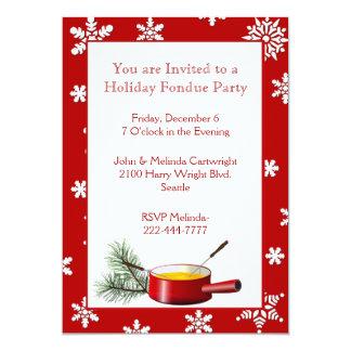 """Invitación del fiesta de la """"fondue"""" del día de"""