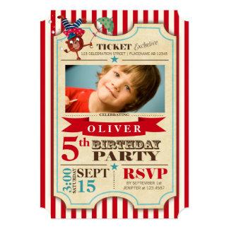 Invitación del fiesta de la foto del cumpleaños el