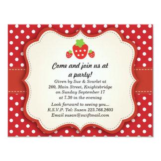 Invitación del fiesta de la fresa