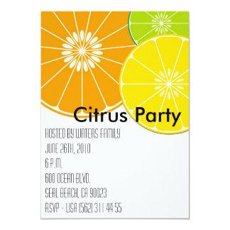 Invitación del fiesta de la fruta cítrica