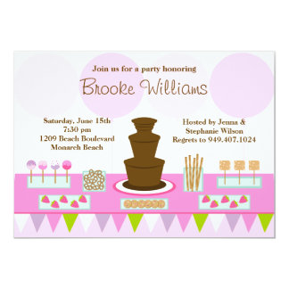 Invitación del fiesta de la fuente del chocolate