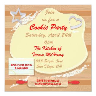 Invitación del fiesta de la galleta invitación 13,3 cm x 13,3cm