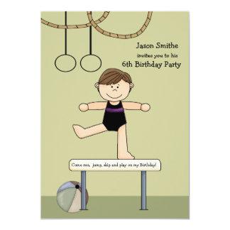 Invitación del fiesta de la gimnasia del ejercicio