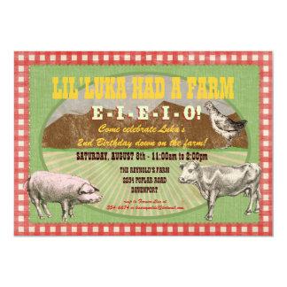 Invitación del fiesta de la granja - MacDonald