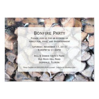 Invitación del fiesta de la hoguera