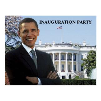 Invitación del fiesta de la inauguración de Obama Postales