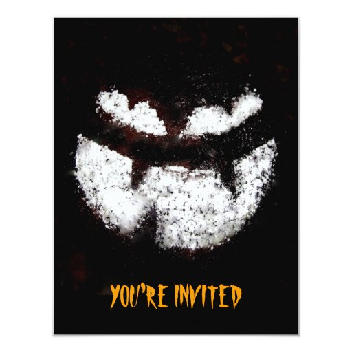 Invitación del fiesta de la linterna de Jack O Invitación 10,8 X 13,9 Cm
