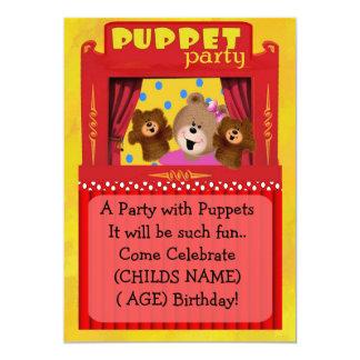 Invitación del fiesta de la marioneta