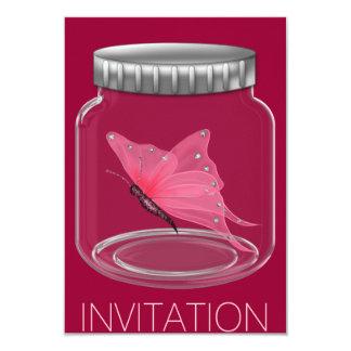 Invitación del fiesta de la mariposa