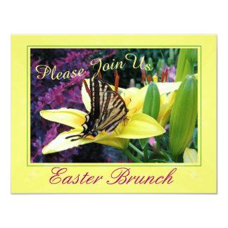 Invitación del fiesta de la mariposa de Pascua Invitación 10,8 X 13,9 Cm
