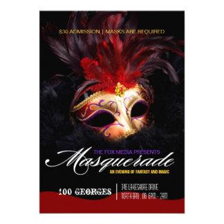 Invitación del fiesta de la mascarada