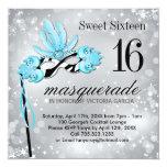 Invitación del fiesta de la mascarada del dulce invitación 13,3 cm x 13,3cm