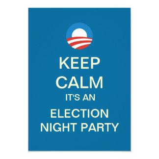 Invitación del fiesta de la noche de la elección