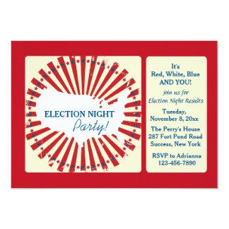 Invitación del fiesta de la noche de la elección invitación 12,7 x 17,8 cm