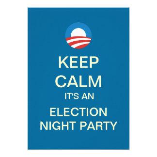Invitación del fiesta de la noche de la elección d