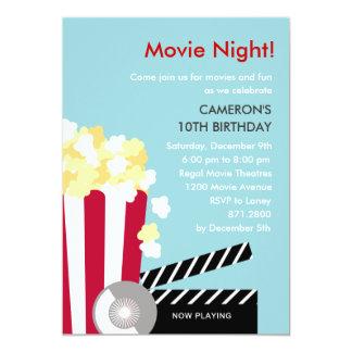 Invitación del fiesta de la noche de película