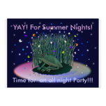 Invitación del fiesta de la noche de veranos