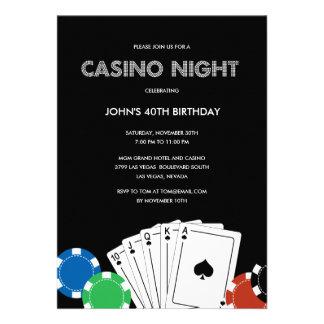 Invitación del fiesta de la noche del casino