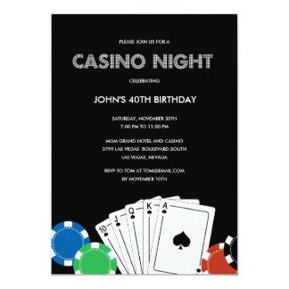 Invitación del fiesta de la noche del casino invitación 12,7 x 17,8 cm