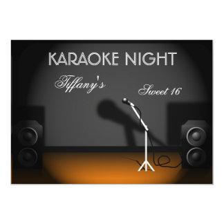 Invitación del fiesta de la noche del Karaoke del Invitación 12,7 X 17,8 Cm