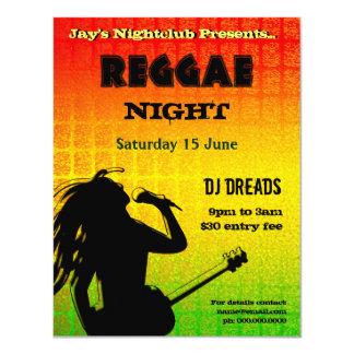 Invitación del fiesta de la noche del reggae