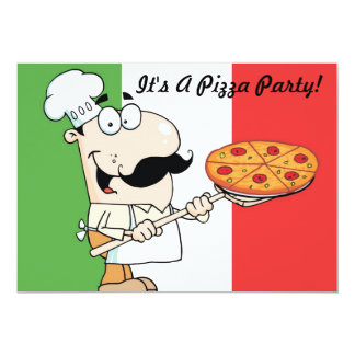 invitación del fiesta de la pizza