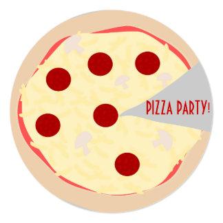 Invitación del fiesta de la pizza de la empanada