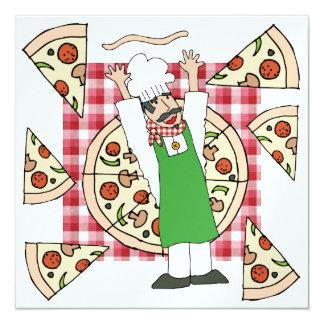 Invitación del fiesta de la pizza - SRF