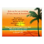 Invitación del fiesta de la playa invitación 13,9 x 19,0 cm
