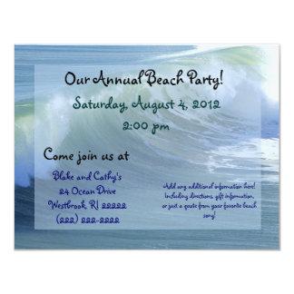 Invitación del fiesta de la playa de la onda de la