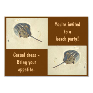 Invitación del fiesta de la playa del cangrejo de