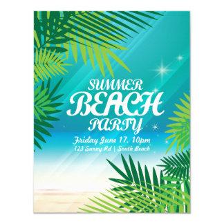 Invitación del fiesta de la playa del verano